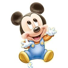 """33"""" Disney Baby Mickey Mouse 1st Birthday Party SuperShape Mylar Foil Balloon"""