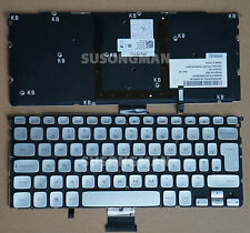 NEW for DELL XPS 14Z L412Z 15Z L511Z Keyboard Backlit No Frame Silver UK