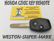 FITS HONDA CIVIC KEY REMOTE  2006 - 2011 + NEW UNCUT KEY BRISTOL
