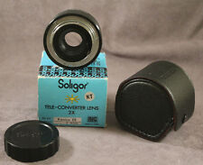 Soligor Auto Tele-Converter Lens 2X To Fit Konica EE Camera with Case
