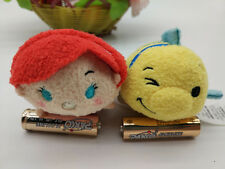 "Disney Authentic The Little Mermaid Ariel Flounder TSUM 3.5"" Mini Plush Toy Set"