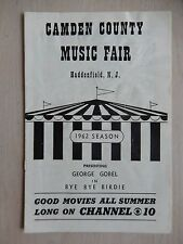1962 - Camden County Music Fair Theatre Playbill - Bye Bye Birdie - George Gobel