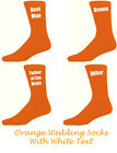 Orange Mens Wedding Socks, Groom, Best Man, Usher