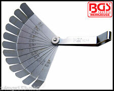 BGS - Werkzeug - 12 Blade Precision Feeler Gauges - Bent Ends - Pro Range - 3184