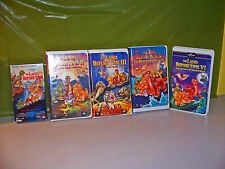 Land Before Time 1-2-3-5-6 Vhs Tapes Movies Lot