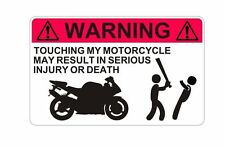 Do Not Touch Motorbike Motorcycle Warning  Sticker Decal Graphic Vinyl Label