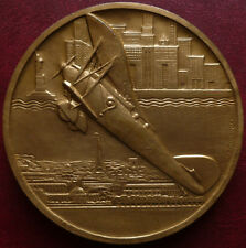 Large French gilded Bronze medal by Anie MOUROUX
