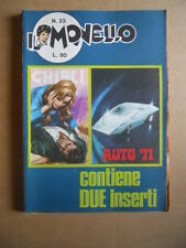 IL MONELLO n°23 1971 con inserto GHIBLI + Figurine Auto [G422]