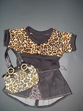 Build a Bear Clothes Clothing Leapord Outfit w/ Purse