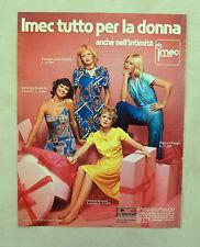 D604 - Advertising Pubblicità - 1975 - IMEC CONFEZIONI BIANCHERIA