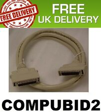 NEW HALF PITCH MICRO D 50PIN MALE TO MICRO D 50PIN MALE 2 METRE FREE UK POST