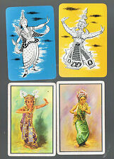 Playing Swap Cards  4 VINT  VERY DECO   SIAMESE  DANCERS   GREAT IMAGES  W12