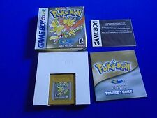 Gameboy Color POKEMON GOLD VERSION *Rare* Pokemon Adventure Boxed NTSC GBC