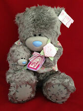"ME TO YOU BEAR TATTY TEDDY 16"" HOLDING 6"" LOVE YOU MUM TAG & ROSE BEAR GIFT"