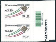 Italia 2009: 3,30 x2 [Codice a Barre] Varietà ORO - Prioritaria Poste Italiane