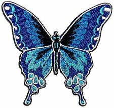 Pretty Blue Butterfly Patch Garden Insect Bug Fun Craft Apparel Iron-On Applique