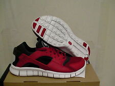 Nike huarache free run running shoes re & black size 9.5 us