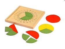 Montessori, Bruchkreis mit Gradeinteilung und Geotafel, 24-teiliges Set, MS24