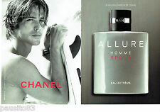 PUBLICITE ADVERTISING 1016  2012  Chanel eau toilette Allure Sport (2p) homme