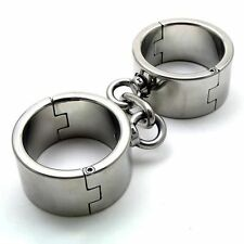 Heavy Duty Bondage Cuffs Large/Male - fetish submission shackles manacles