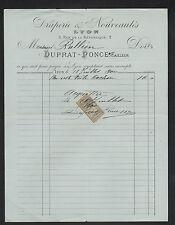 """LYON (69) DRAPERIE & NOUVEAUTES """" Tailleur DUPRAT & PONCE"""" en 1900"""
