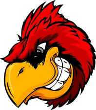 "Angry Cardinal Bird Car Bumper Sticker Decal 11"" x 13"""