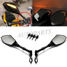 BLACK LED TURN SIGNAL MIRRORS FOR DUCATI Monster 696 796 1100 Streetfighter 848
