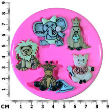 Infant Animal Baby Shower Nursery Christening Silicone Mould by Fairie Blessings
