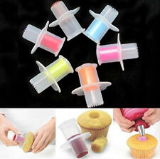 Kitchen Cupcake Cake Core Remover Plunger Cake Corer Filler Decoration Kit Set
