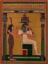 A4 Foto Caballero Alfred E b1861 amentet 1915 Egipcio King como osirian Atten