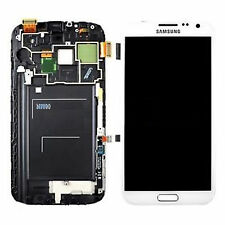 100%Genuine Samsung Galaxy Note 2 N7100 WHITE LCD Screen/Touch Digitizer Frame