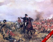 WELLINGTON AT WATERLOO PAINTING MILITARY HISTORY WAR ART REAL CANVAS PRINT