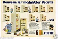 Publicité advertising 1979 (2 pages) Electroménager refrigerateur Vedette