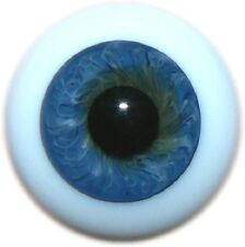 REBORN DOLLS REAL GLASS FULL ROUND EYES, COLOR 57 BLUE 20 MM