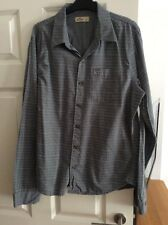 Hollister Size Large Grey Patterned Long Sleeve Shirt Worn Once