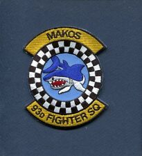 93rd FS MAKOS USAF  F-16 FALCON Fighter Squadron Jacket Patch