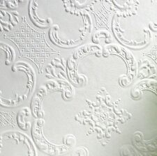 Textured, Highly Durable white paintable wallpaper 10m (Alfred Design)