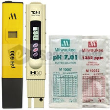 PH600 + TDS-3 + pH 7 + 1382 ppm COMBO - Milwaukee HM Digital Meter/Solution