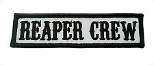 Reaper Crew Outlaw Anarchy Biker Vest Jacket Officer Title Patch  Black