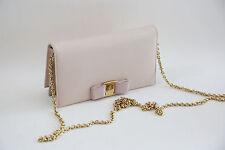 #11 Salvatore Ferragamo 'Miss Vara' Saffiano Leather Bow Chain Wallet