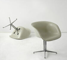 EAMES LAFONDA FIBERGLAS ARM CHAIR herman miller summit vitra lounge