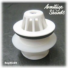 """ARMITAGE SHANKS S885067 1-1/2"""" 40mm DOMED PLASTIC URINAL OUTLET WASTE WHITE"""