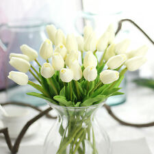 10pcs False Tulip TULIPS REAL TOUCH PU Fake Flowers BOUQUET Home Wedding Decor☇