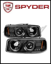 Spyder GMC Sierra 1500/2500/3500 99-06 Projector Headlights LED Halo LED Black