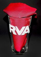 Sandblasted Art RVA Richmond Virginia City Logo Etched Handmade Pint Glass