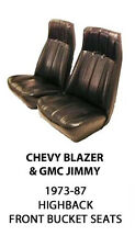 CHEVROLET BLAZER & GMC JIMMY FACTORY REPLACEMENT (FRONT) SEAT COVERS  1973-1987