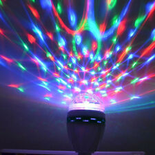 Colorful Auto Rotating RGB Bulb Party Lamp Disco for home decoration LED lamps