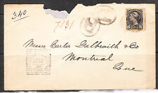 8c Small Queen Registered COVER CUMBERLAND Square OC 14, 97