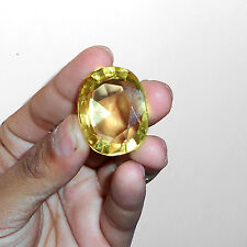 86.65 Ct. Translucent Yellow Citrine eBay Oval Cut Certified Loose Gemstone -71