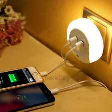 Double USB Bedside Charger LED Light Control Night Light Induction Lamp for Baby